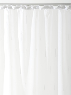 Panneau en voile blanc, finition galon f