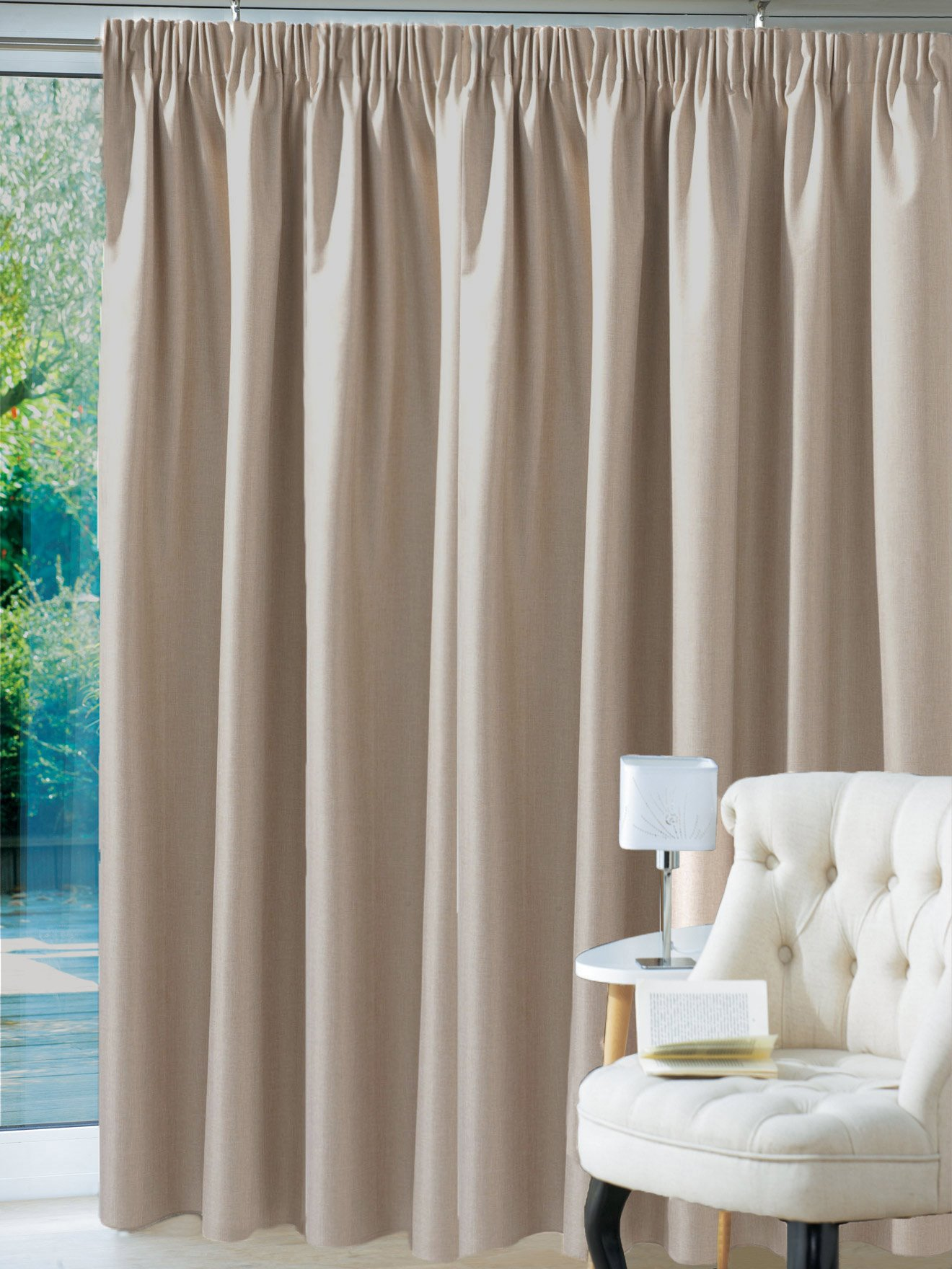 rideau jacquard occultant galon fronceur daxon. Black Bedroom Furniture Sets. Home Design Ideas