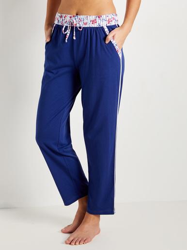Pantalon de pyjama, maille pur coton