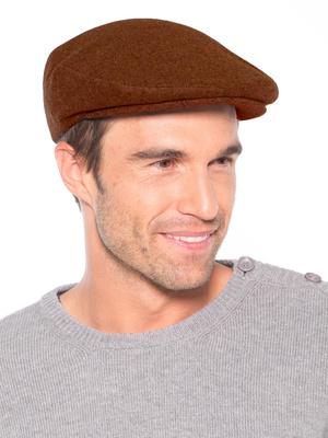 Casquette drap 80% laine, 20% cachemire