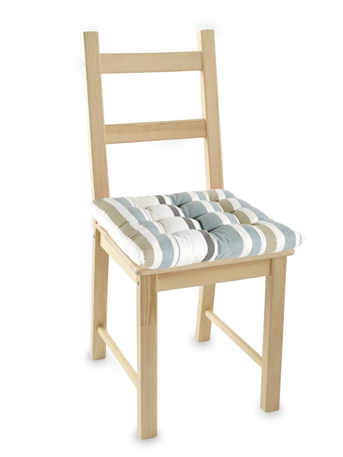 galettes de chaise carr es lot de 2 daxon
