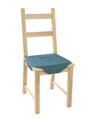 Galettes de chaise unies, lot de 2