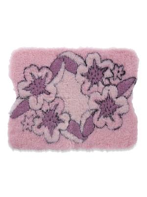 Tapis de bain fleuri envers antidérapant