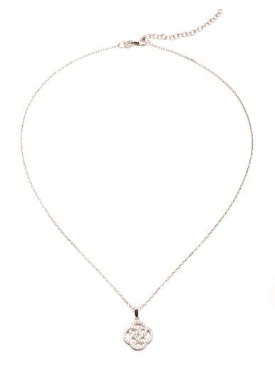 Pendentif zirconias blancs chaîne forçat
