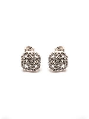 Boucles d'oreilles argent et zirconias
