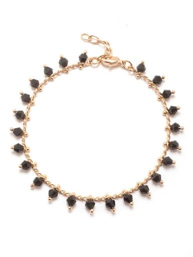 Bracelet saphirs véritables, plaqué or