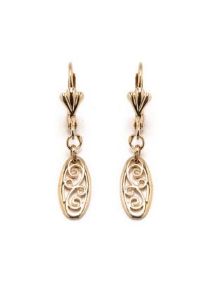 Boucles d'oreilles filigranées plaqué or