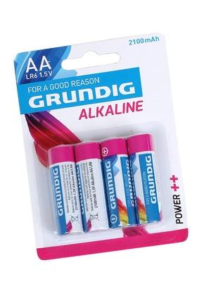 Lot de 4 piles alcalines AA/LR06