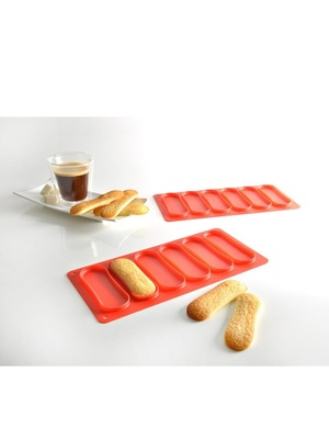 Lot de 2 moules langues de chat