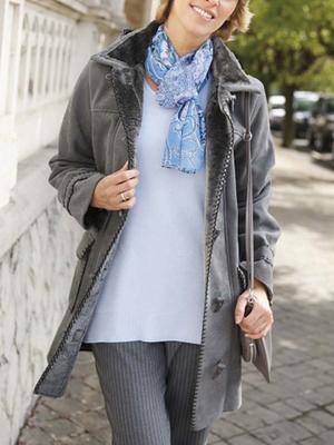Le duffle-coat suédine aspect daim