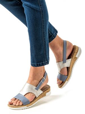 Sandales bicolores à mémoire de forme