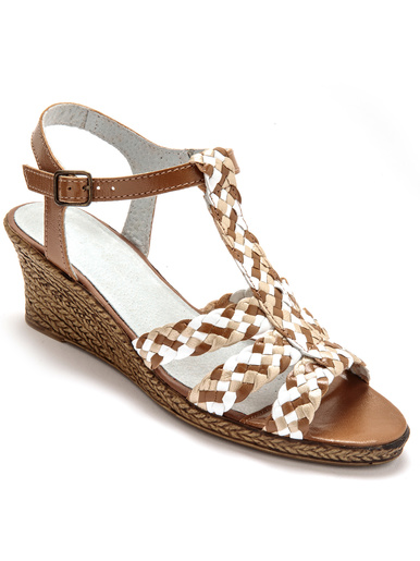 Sandales cuir tressé