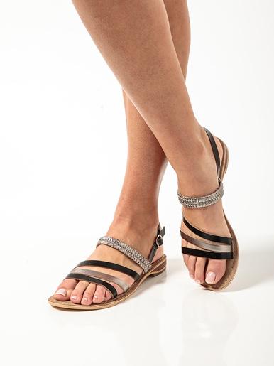 Sandales cuir, aérosemelle®