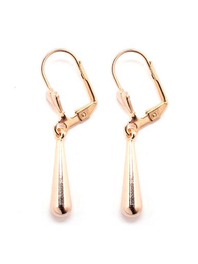 Boucles d'oreilles pendantes, plaqué or