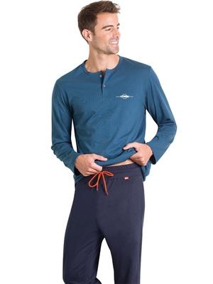 Pyjama Beau & Bio pur coton, col tunisie