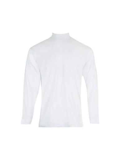 Tee-shirt col montant, pur coton