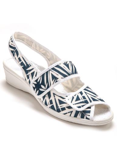 Sandales en toile, ouverture totale