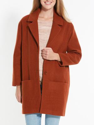 Manteau uni forme ovoïde