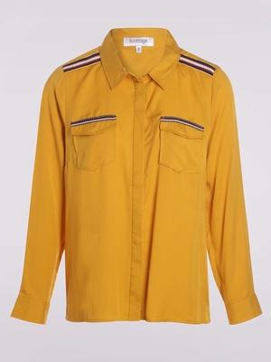 Chemise avec galons colorés
