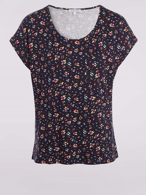 Tee-shirt forme boîte, manches courtes