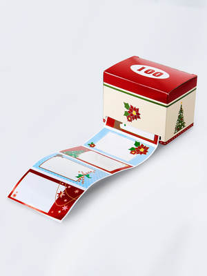 Lot 100 étiquettes cadeaux autocollantes