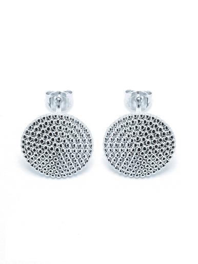 Boucles d'oreille rondes, en argent