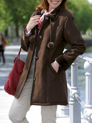 Le manteau en Peau lainée fantaisie