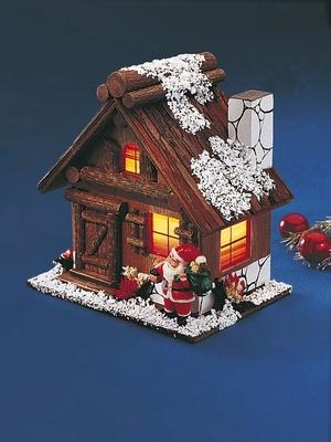 Chalet lumineux de Noël