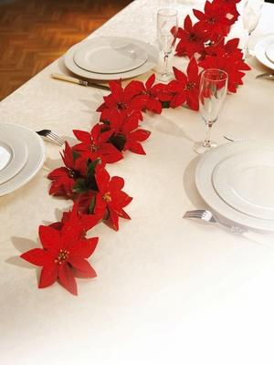 Guirlande pailletée fleurs de Noël