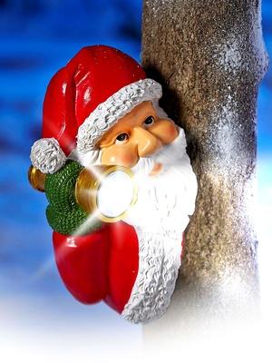 Lampe-torche Père Noël, avec capteur