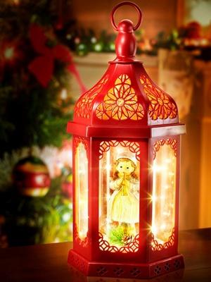 Lanterne fantaisie lumineuse, décor Noël