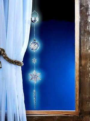 Décoration de Noël lumineuse à suspendre