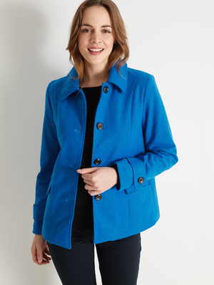 Manteau court, 11% laine