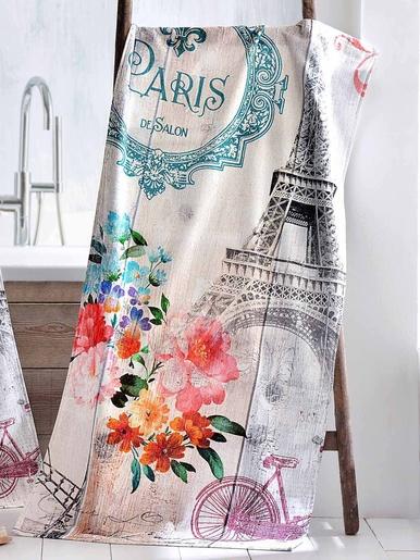 Serviette Paris Romantique, pur coton