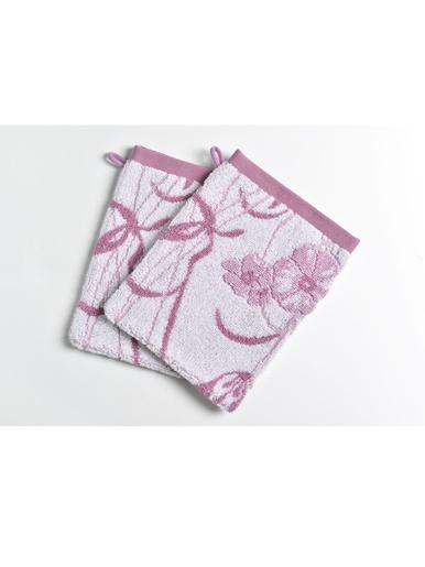 Lot 2 gants, Fleurs grimpantes pur coton