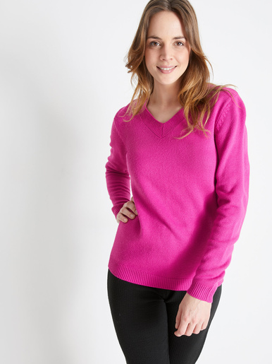 Pull encolure V, manches longues