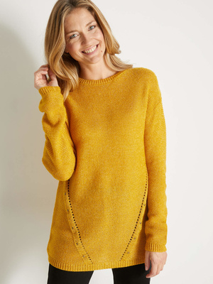 Pull tunique, encolure ronde