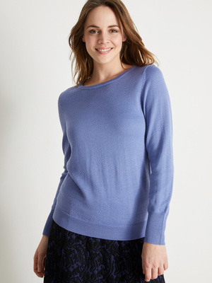 Pull encolure ronde, 50% laine mérinos