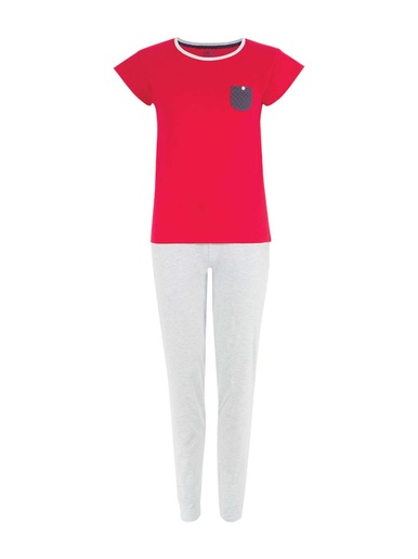 Pyjama manches courtes, jersey pur coton