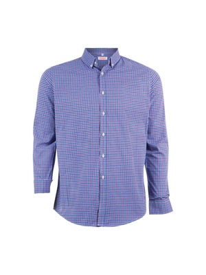Chemise coupe droite, manches longues