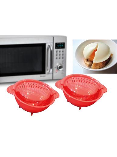 Lot 2 cuiseurs œufs pochés micro-ondes