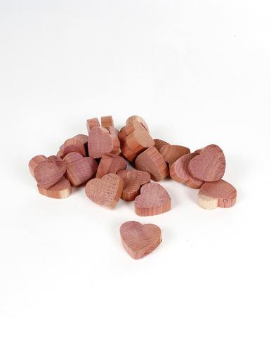 Lot de 25 cœurs anti-mites en cèdre