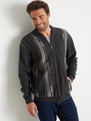 Gilet classique, zippé, 30% laine