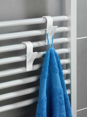 Lot de 6 crochets de radiateur