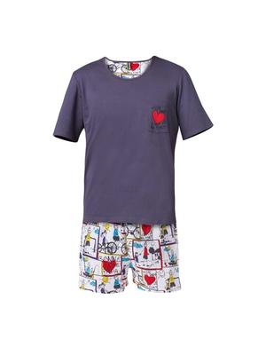 Pyjashort Papa, en coton
