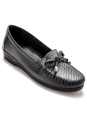 Mocassins cuir, largeur confort