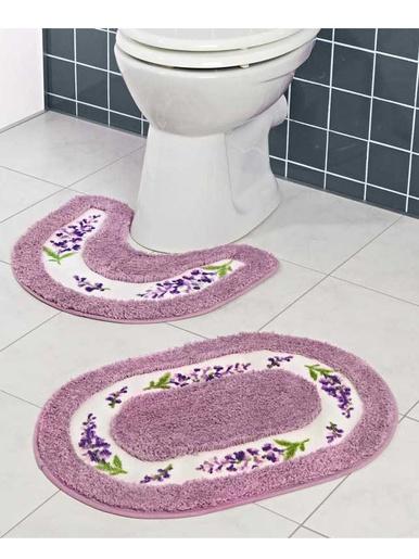 Lot de 2 tapis de bain Lavande