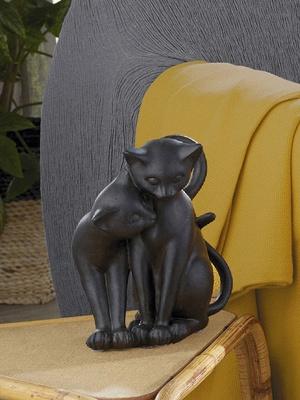 Statuette chats en résine