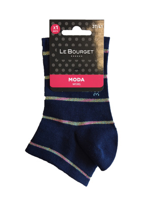 Socquettes ultra courtes Lurex, la paire