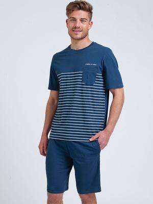 Pyjama col rond Rayures